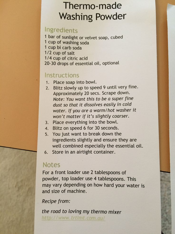 Laundry Washing Powder by Thermomix