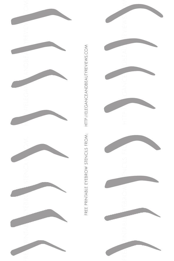 free printable eyebrow stencils