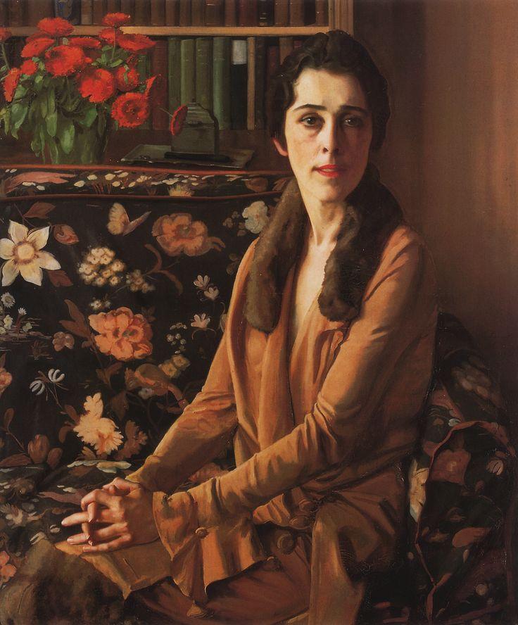 Сомов. Портрет Луизы Морган. 1926