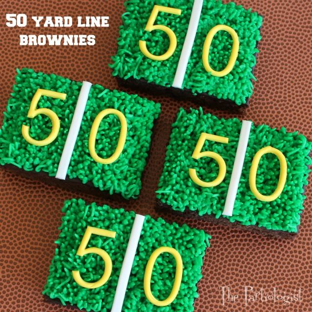 The Partiologist: 50 Yard Line Brownies!