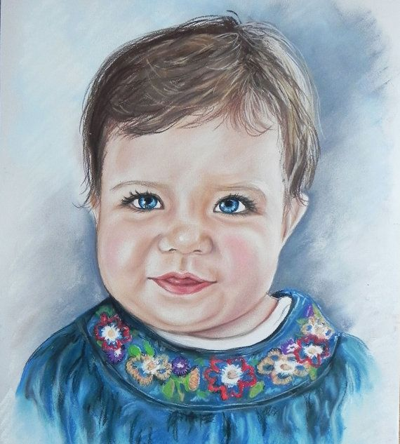 CUSTOM PORTRAIT. Commision  soft pastel drawing from by RoanStudio, zł280.00