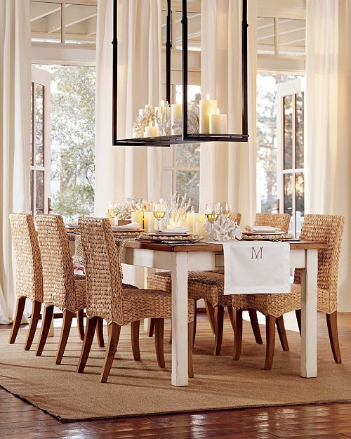 Dining Table Dining Table With Seagrass Chairs