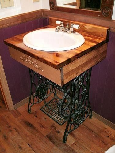 reuse old sewing machine base