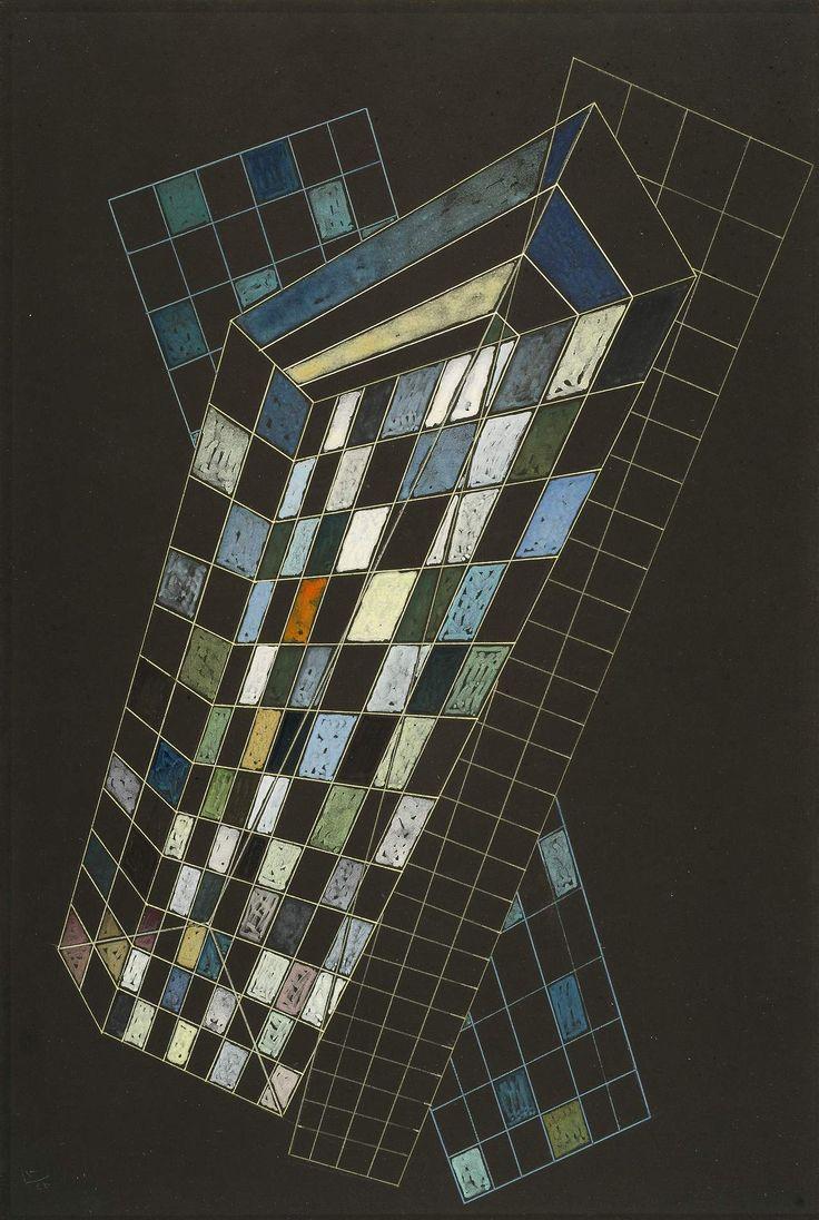 Wassily Kandinsky (Russian: 1866-1944), Kleine Flächen, 1936. Gouache on black card mounted on board, 50 x 33.7 cm