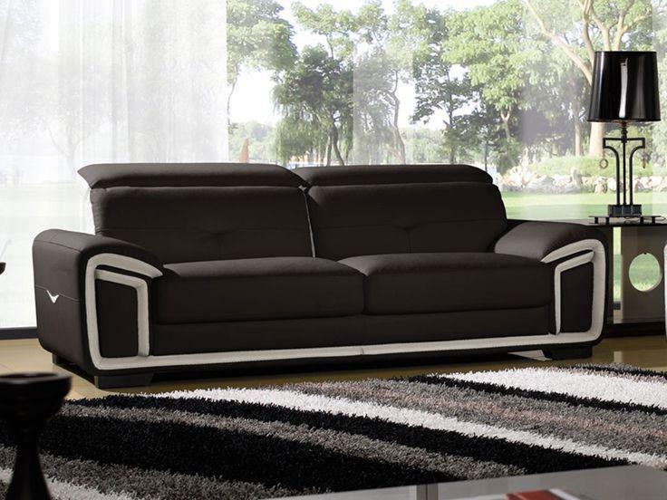 Canapé en cuir 3 places HAMILTON