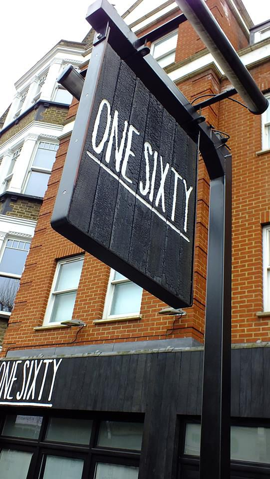 external signage in wood finish, unpainted with directives, printed/painted