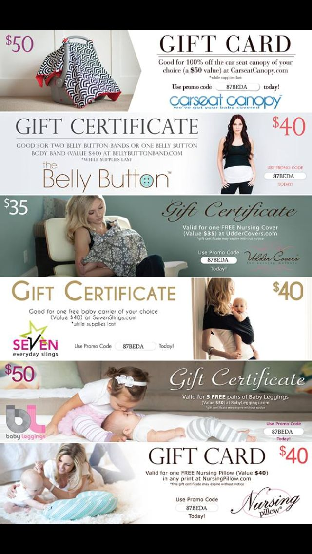 Promo codes that are legit! Free baby items, Baby