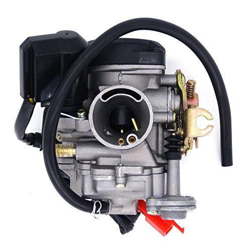49cc Scooter Carburetor GY6 Four Stroke with Jet Upgrades - Brand New High Quality Aftermarket Carburetor. 49cc Scooter Carburetor GY6 Four Stroke with Jet Upgrades 18mm ID (Intake side) 40mm OD air filter side