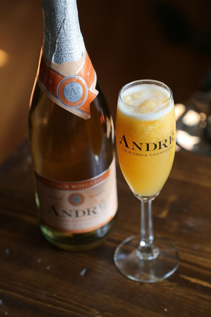 Delicious Frosty Andre Peach Moscato Cocktail Recipe!