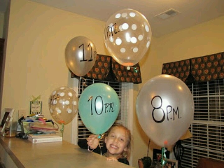 Write fun activities on a piece of paper and put them in the balloon. Pop a new balloon every hour and do the activity. Fun for a child's sleepover or even a bachelorette party!