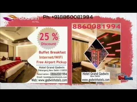 Godwin Hotels: Best Budget hotels in delhi : Hotels in Paharganj - YouTube
