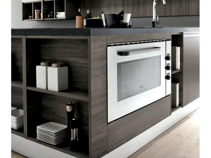 Nuovi Mondi Cucine Cucina Cucina mit linearem Penis und glamourösem Sc ...
