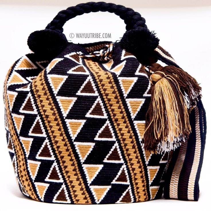 One of A Kind Wayuu Mochila Bag - Woven One Thread. Quick Ship Anywhere, and International! $275.00 #wayuubags www.wayuutribe.com
