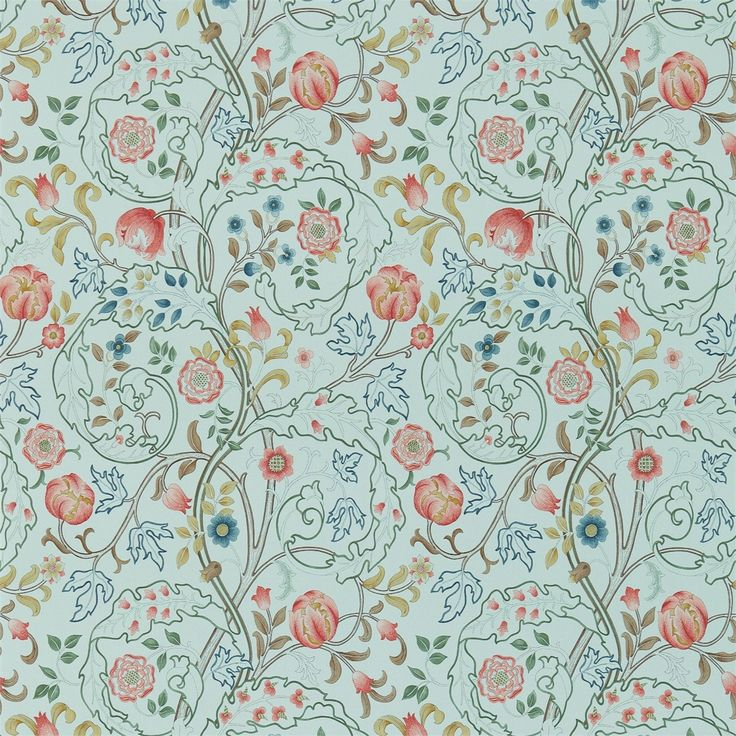 Pattern:  Mary Isobel.   The Original Morris & Co - Arts and crafts, fabrics and wallpaper designs by William Morris & Company   Products   British/UK Fabrics and Wallpapers   Mary Isobel (DM3W214731)   Archive III Wallpapers