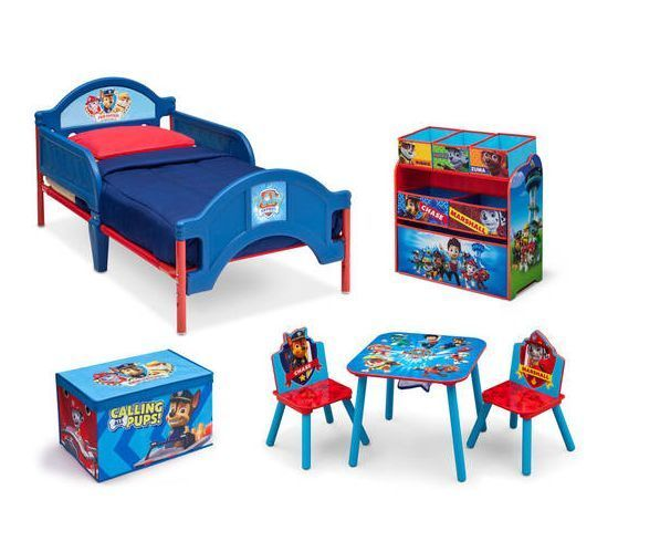 Paw Patrol Toddler Bed Table Chairs Toy Box Boys Room Kids Furniture Storage in Home & Garden, Kids & Teens at Home, Furniture | eBay