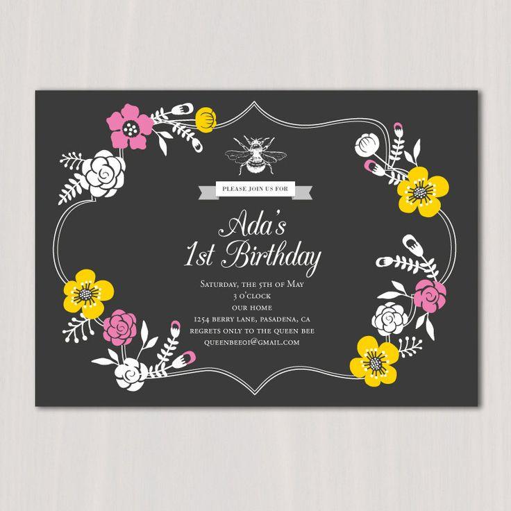 Bumble Bee Invitation Party Invite