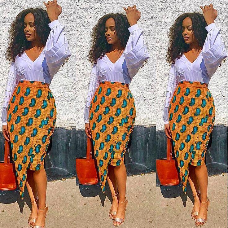 Beautiful And Classy Ankara Skirt Styles
