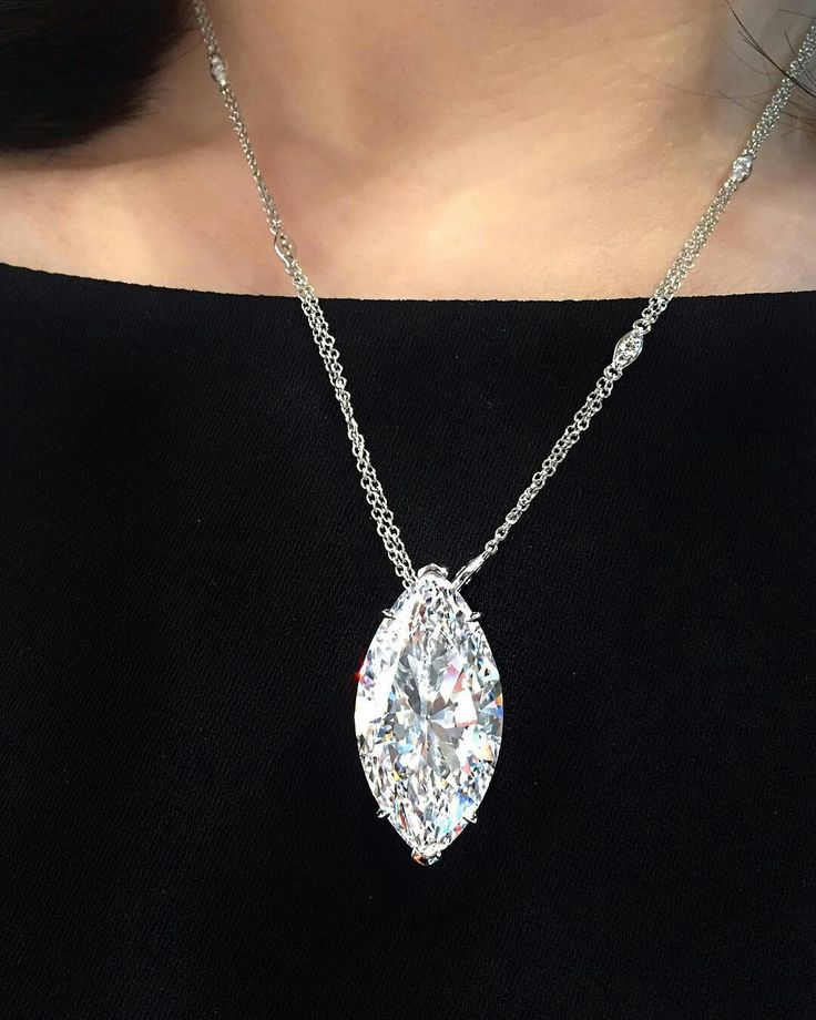A spectacular 22.06 carat D colour, internally flawless marquise-cut diamond pendant necklace to be offered at Christie's Hong Kong. ChristiesJewels