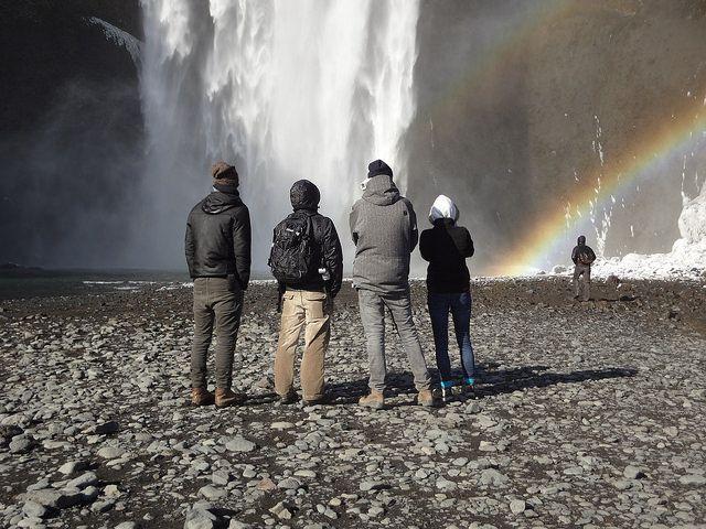PAF in Iceland / 2. - 9. 5. 2015 / rainbow / waterfall / http://www.pifpaf.cz/en/paf-na-islandu / foto: Marie Maixnerová