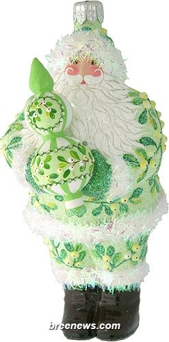 Crowning Glory (Mistletoe) Patricia Breen Designs (Green, Mistletoe, Santa)