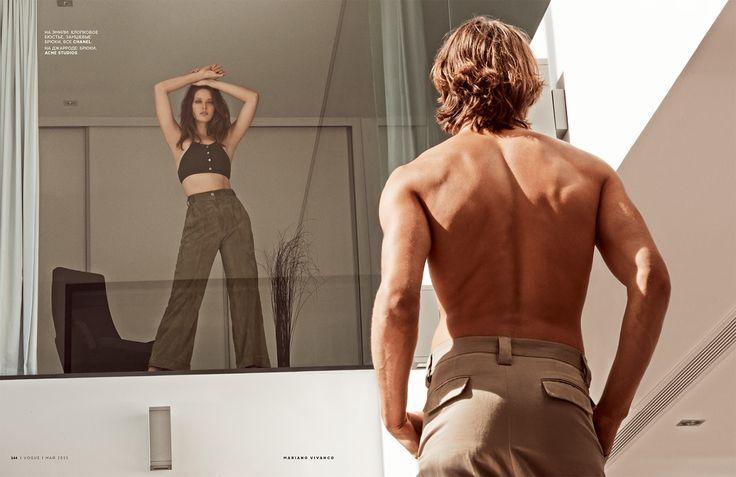 Emily Didonato et Jarrod Scott photographiés par Mariano Vivanco pour Vogue Russie mai 2015