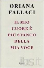 """'Il mio cuore e' piu' stanco della mia voce', Oriana Fallaci. Questo libro raccoglie alcune delle conferenze di maggior rilievo dell'autrice. Pagine rimaste finora inedite che rivelano il suo rapporto con la scrittura, la sua passione per la politica e per l'impegno civile, la sua """"ossessione per la libertà""""."""