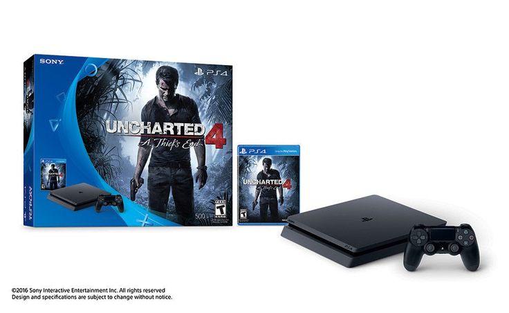 Sony 3001504 PlayStation 4 Slim 500GB Uncharted 4 Bundle!