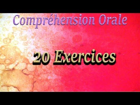 Compréhension Orale niveau A1 - 20 exercices - YouTube