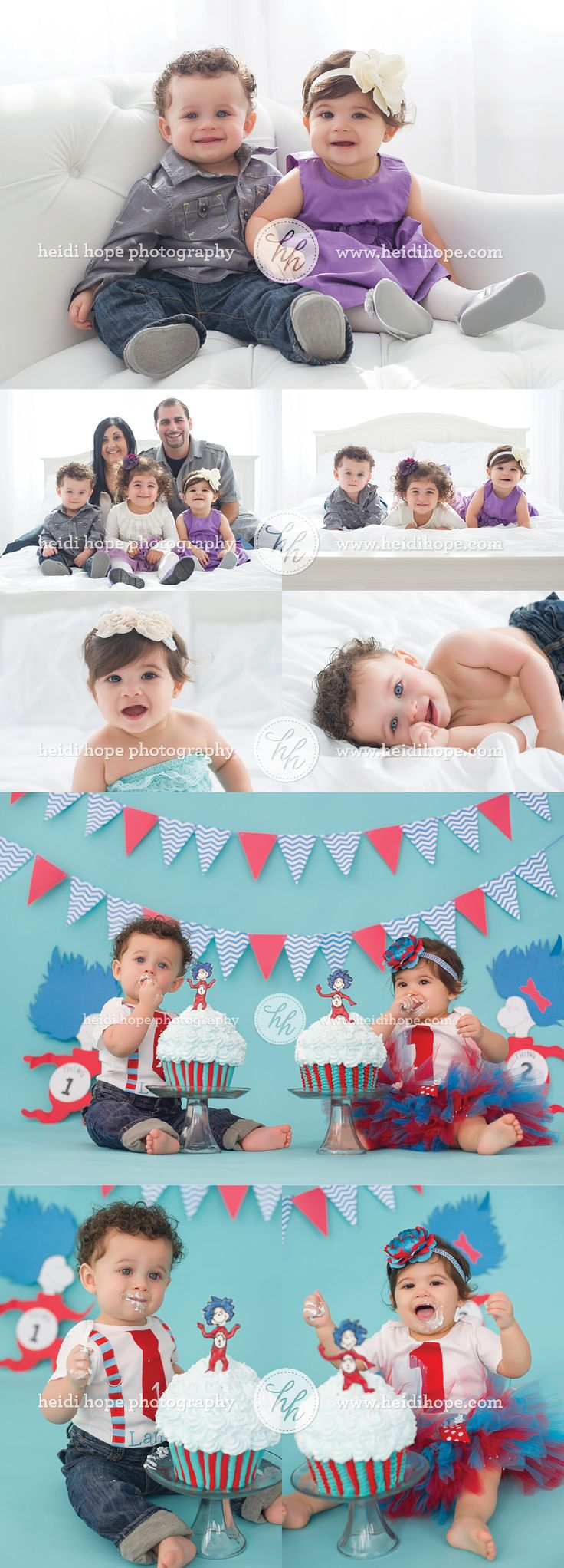 Happy First Birthday, L and L! | Heidi Hope Photography