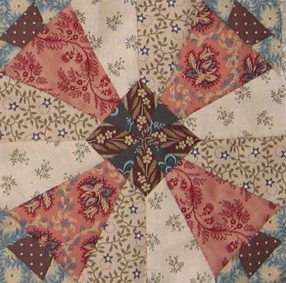 "Pennsylvania  http://passionpatchwork.wordpress.com  block in ""1865, passion sampler"" quilt"