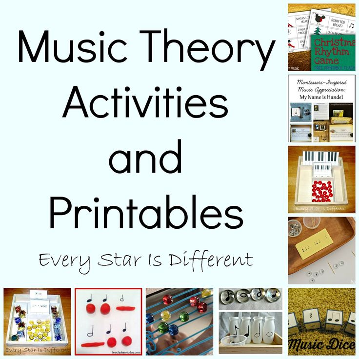 Montessori-inspired Music Activities with Free Printables from Every Star Is Different