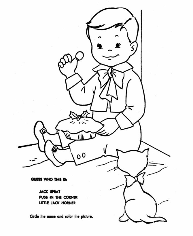 Printable Nursery Rhymes Coloring Pages To Learn Mother Goose And Teach Pre K Students About The