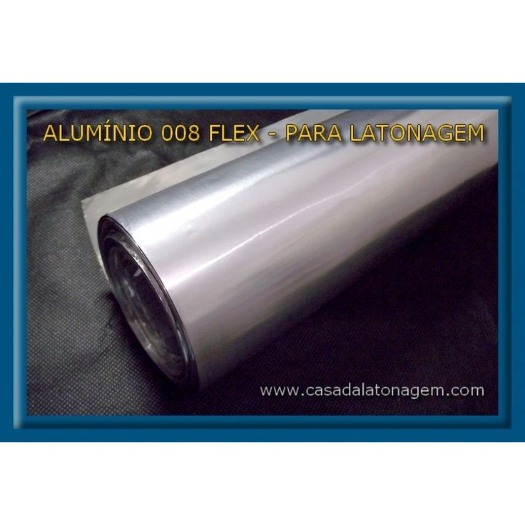 Alumínio 008mm Flex p Latonagem - Folha 1mx30cm