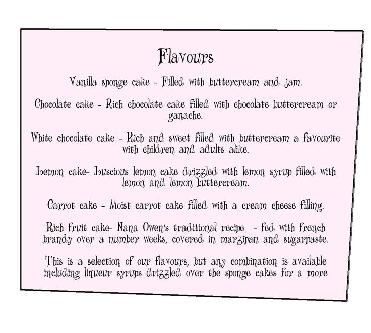 78+ Images About CAKE ORDER FORMS On Pinterest