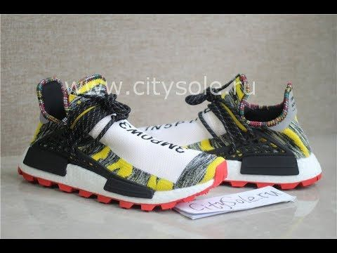 PK God Retail Version Pharrell x Adidas NMD Hu Solar Pack Core Black Red BB9527 from CitySole.ru