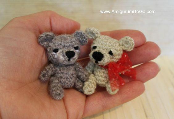 #crochet, free pattern, amigurumi, mini teddy bear, #haken, gratis patroon (Engels), mini teddy beer, sleutelhanger, tashanger, decoratie, #haakpatroon