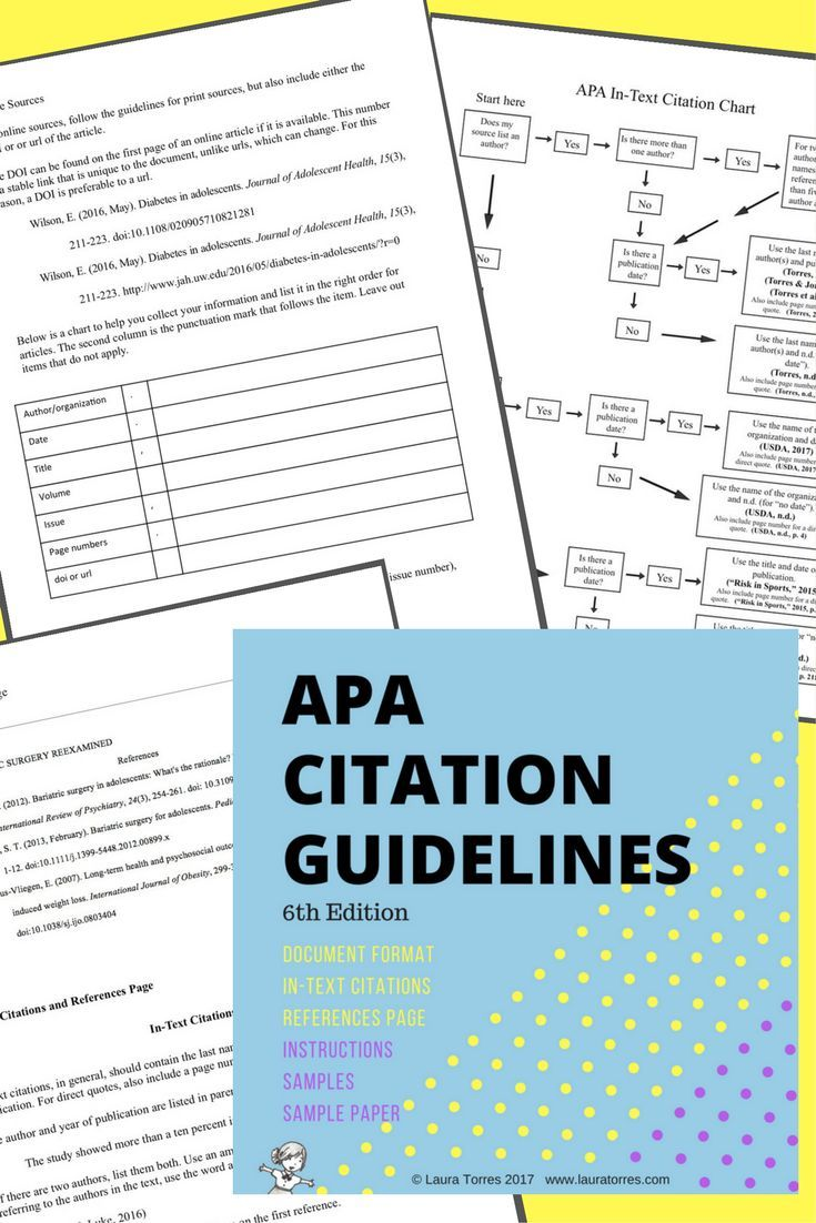 apa citation guidelines the lesson cloud pinterest teacher