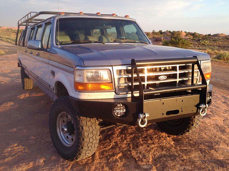 ford truck f350 1995 bumper custom door 96 92 trucks series bumpers pickup push guards pick roll jeep fits