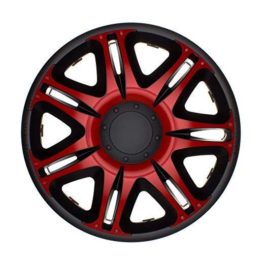 4 pc Enjoliveurs de roues NSR ROUGE-NOIR 14 pouces