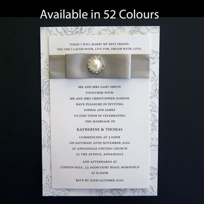 These chic wedding invitations can be used fr formal or casual occasions. Available in more than 50 colours. www.kardella.com