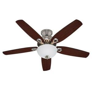 Hunter, Builder Deluxe 52 in. Brushed Nickel Ceiling Fan, 53090 at The Home Depot - Mobile