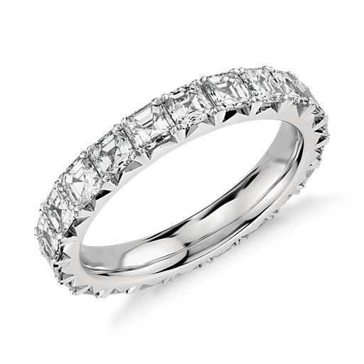 Asscher Cut Diamond Eternity Ring in Platinum (2.5 ct. tw.)