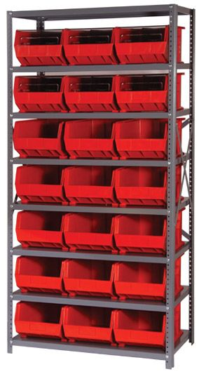 Quantum Giant Open Hopper Shelf Storage System Bin Dimensions U0026 Number Of  Shelves: 12 X 19 X 15 U0026 6 Shelves