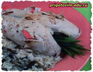 Куриные грудки фаршированные крабовым мясом