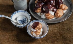 You'll need little more than a teaspoon to make these profiteroles, after a Michel Guerard recipe.