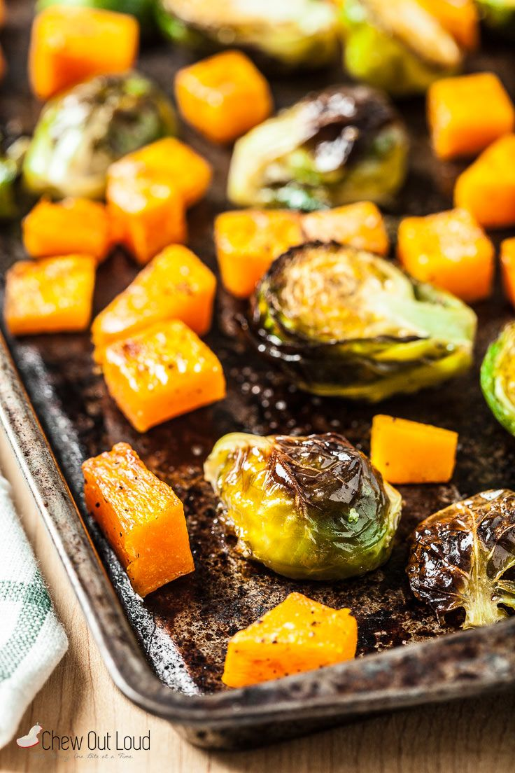 Roasted Brussels Sprouts and Butternut Squash - Chew Out Loud
