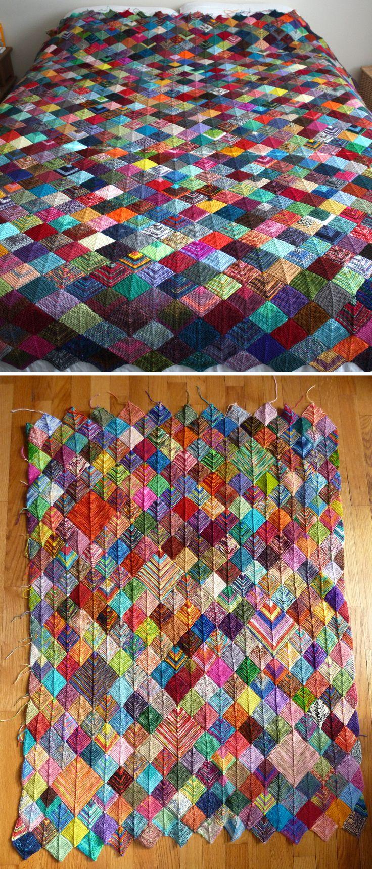 Sock Yarn Blanket – Free Pattern
