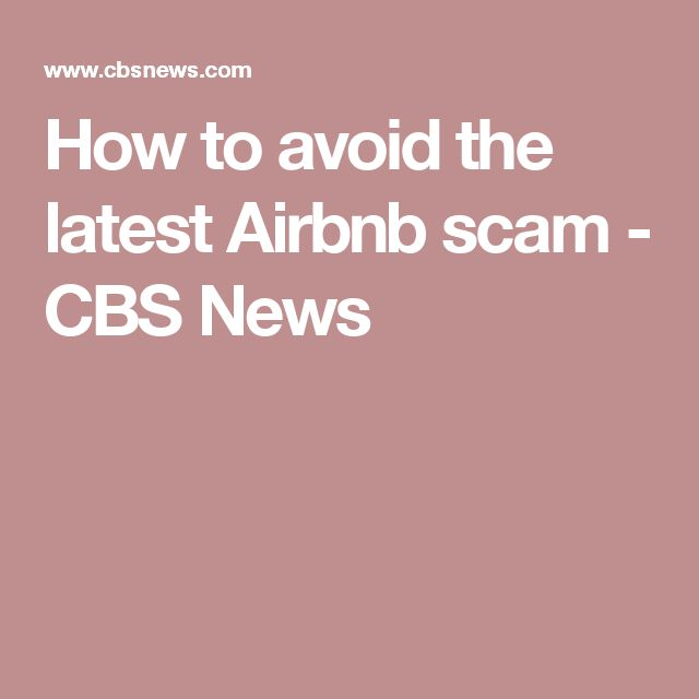 airbnb how to avoid scams payment