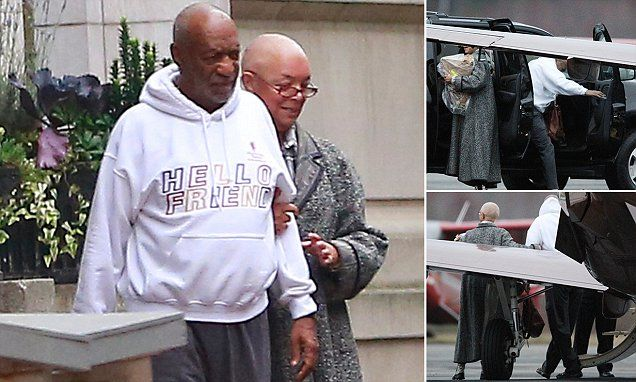 Bill Cosby comes out of hiding looking beaten down and held up by his wife Camille | Daily Mail Online
