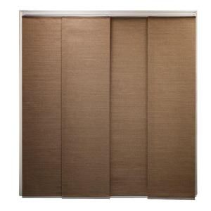 New House Sliding doors: Chicology Cordless French Truffle Natural Woven Sliding Panel Shade, 96 in. Length (Price Varies by size)-DRSPFT1 at The Home Depot